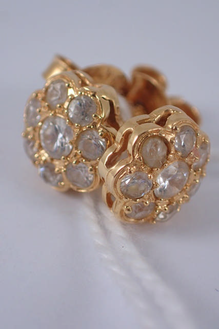 A pair of 18ct gold earrings