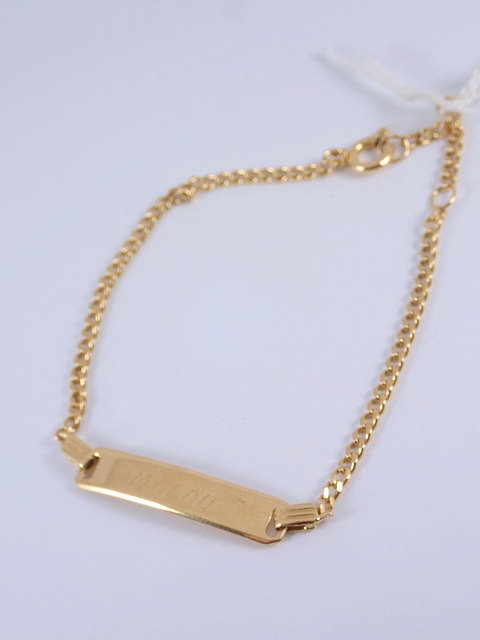 A 9ct gold id bracelet