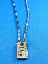 A pendant on chain