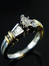 A diamond solitaire ring set with diamond