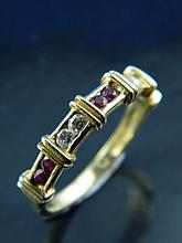 A diamond & ruby ring