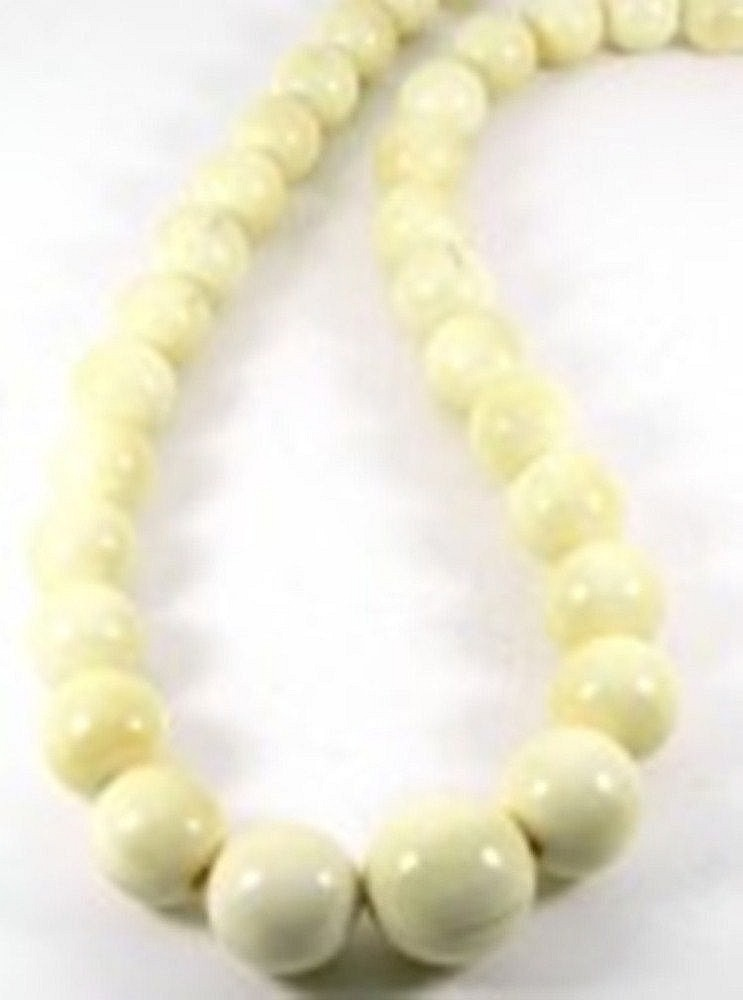 An ivory necklace