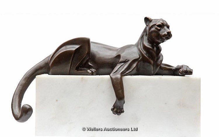 Milo, Art Deco Panther, Bronze, Signed Milo, 19cms