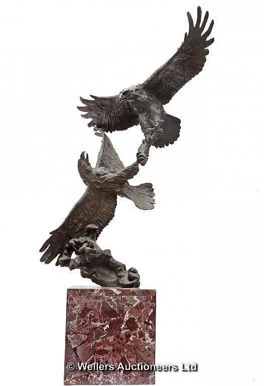 Milo, Fighting Eagles, Bronze, Signed Milo, 82cms
