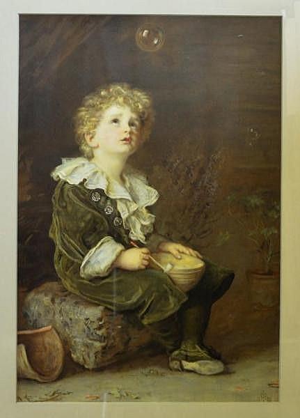 John Everett Millais, 1829-1886, 'Bubbles' (used