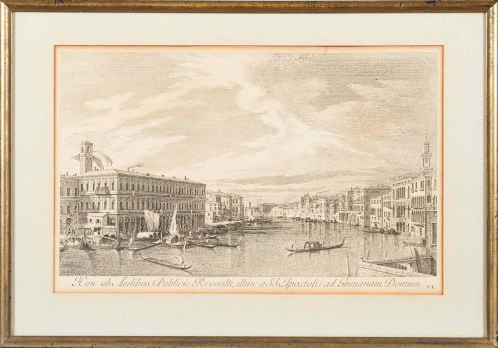 VISENTINI, Antonio Maria (1688 Venedig - 1782 Venedig). 7 Ansichten von Venedig.