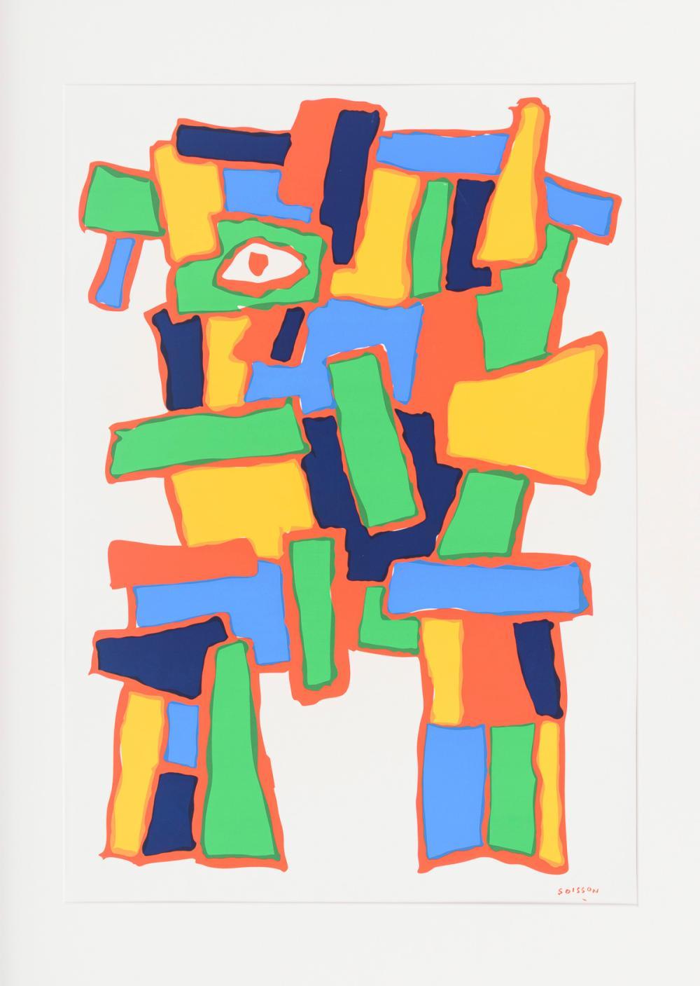 SOISSON, Jacques (1928 Paris - 1012 Paris). Ohne Titel.