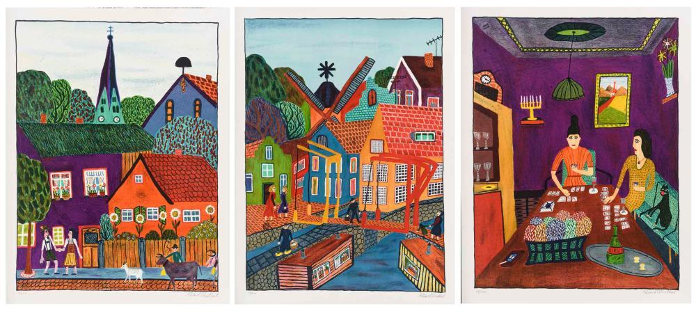 ODENTHAL, Eduard (1929 Köln - 2006 Köln). 3 naive Werke.