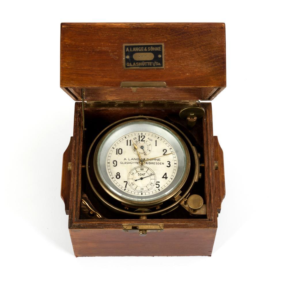 Schiffschronometer mit 56 h Gangreserve. A. Lange & Söhne Glashütte B/Dresden.