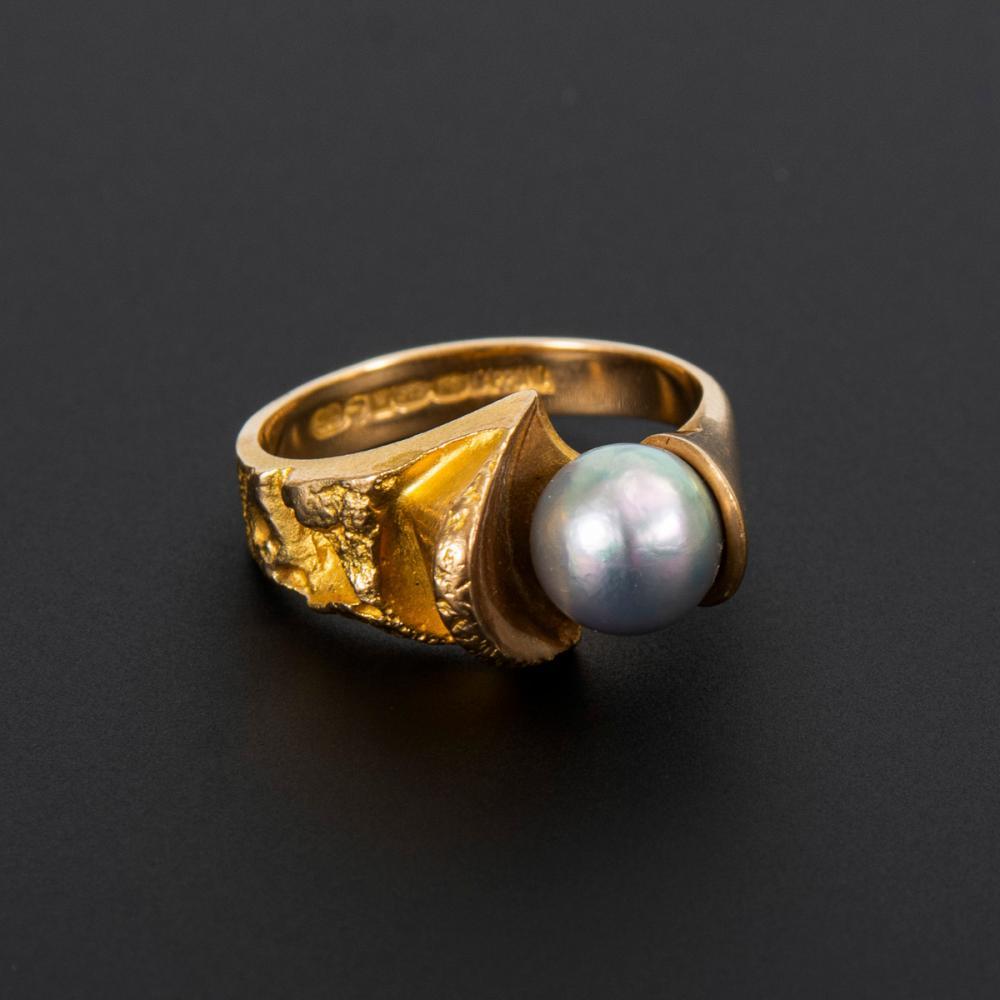 Designer-Ring LAPPONIA mit Zuchtperle.