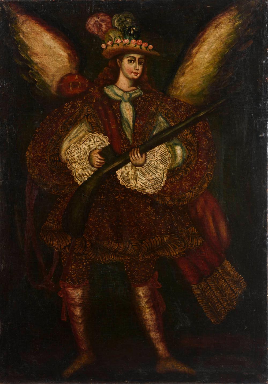 Schule von Cusco: Engel mit Gewehr.