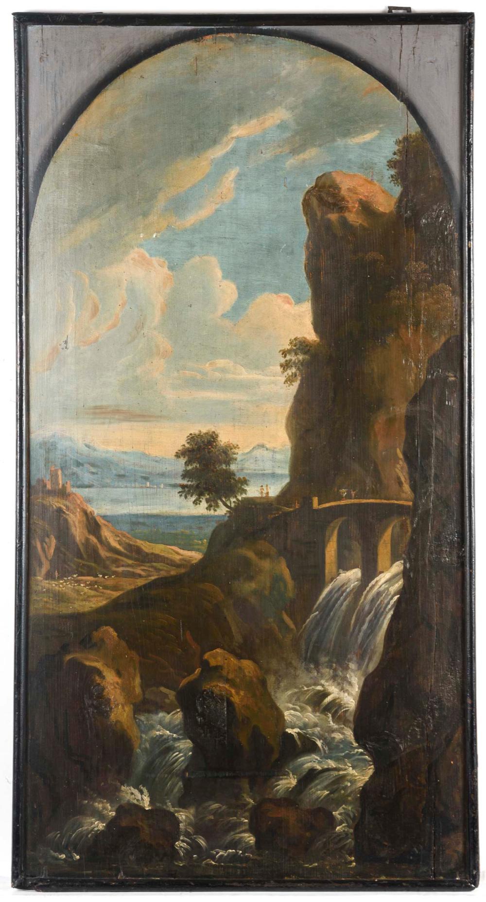 Barocke weite Küstenlandschaft.