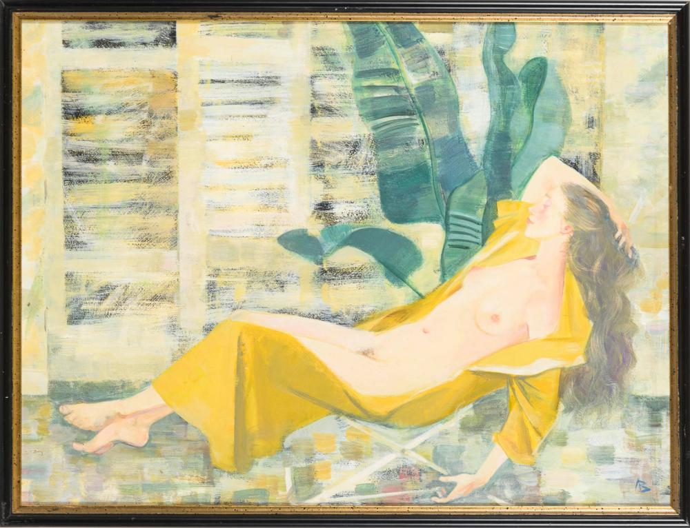 LIPETZ, Wladimir (* 1950 Kasachstan). Liegender Mädchenakt.