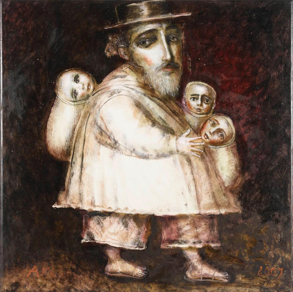 MEDVEDEV, Andrei (* 1960 Moskau). Rabbi mit Kindern.