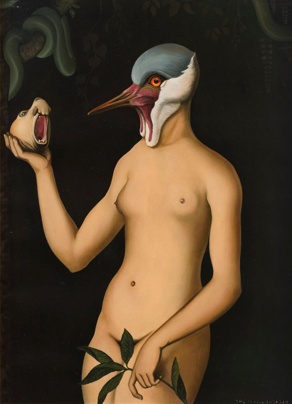 "VALDIVIA CARRASCO, Jorge (* 1950 Ayacucho/Peru). ""Die Vögel / Ave - Eva""."