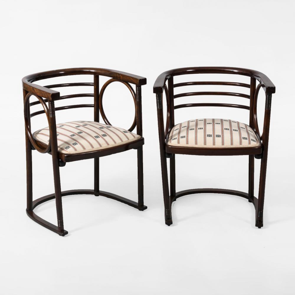 Paar Art-déco-Armlehnstühle. Jacob & Josef Kohn.