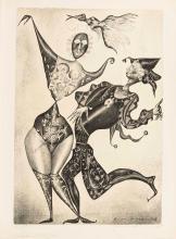 """NAUMANN, Hermann (*1930 Kötschenbroda). """"Orpheus und Eurydike""""."""