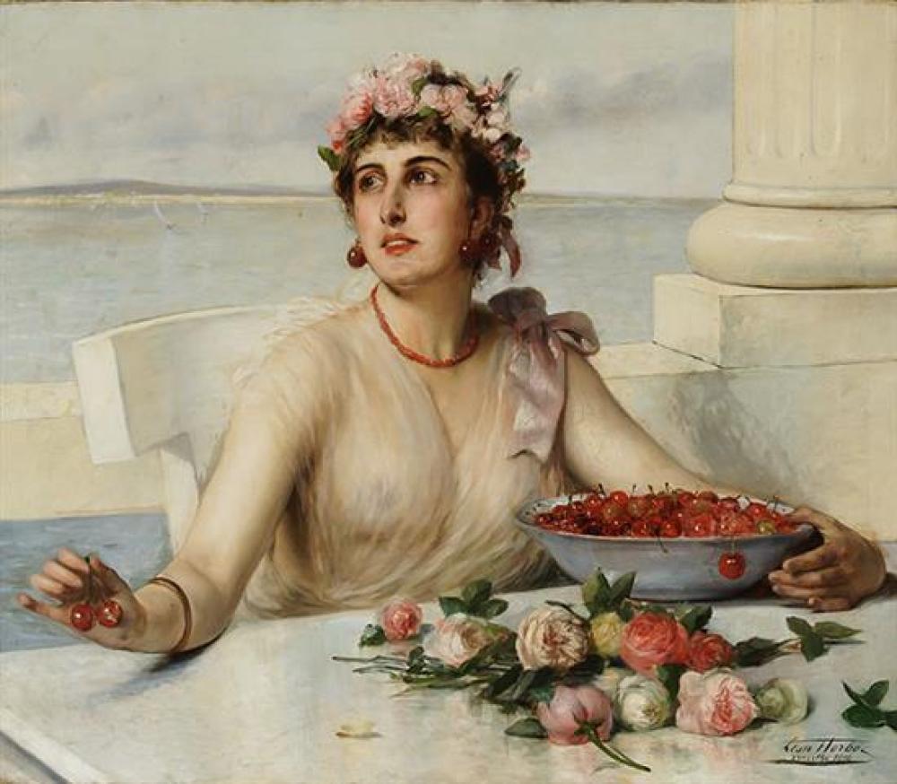 Léon Herbo (Belgian 1850-1907), Springtime