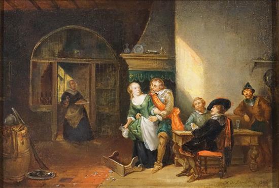 Ferdinand De Braekeleer the Elder (Belgian 1792-1883), In the Tavern