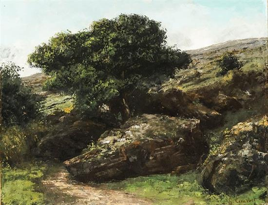 Gustave Courbet (French 1819-1877), Paysage avec Rochers
