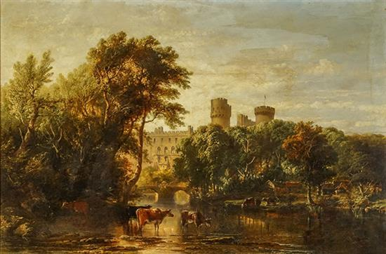 John Frederick Tennant (British 1796-1872), View of Windsor Castle, Oil on Canvas, 32 x 48 inches