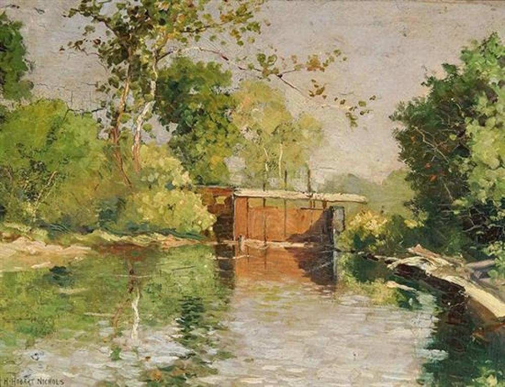 Henry Hobart Nichols (American 1869-1962), River Landscape
