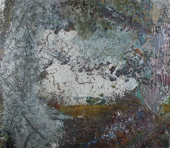 Philip Wofford (American b. 1935), Devil's Den, Signed Acrylic on Canvas, 108 x 108 inches