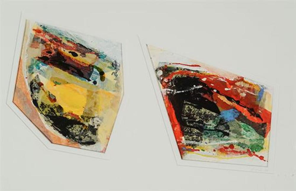 Sylvia Snowden (American b. 1940), Untitled Diptych, Mixed Media, 18-1/2 x 26-1/2 inches