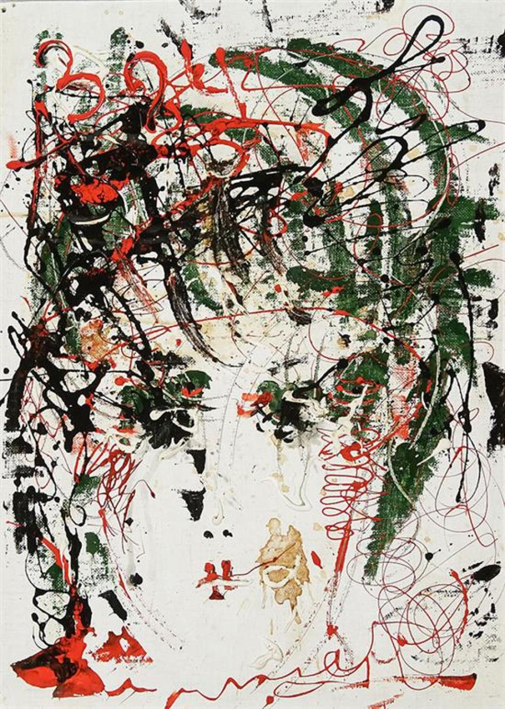 Anatoly Timofeevich Zverev (Russian 1931-1986), Abstract Portrait
