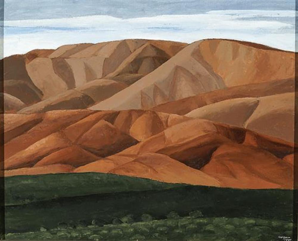 João Hogan (Portuguese 1914-1988), The Land of the Star (Terra Da Estrela), Oil on Canvas, 31-1/2 x 39 inches