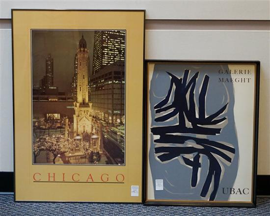 Two Framed Posters, 'Chicago' and 'Galerie Maeght'