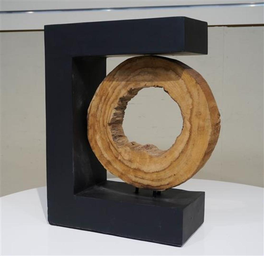 Ebonized Composition and Wood Sculpture