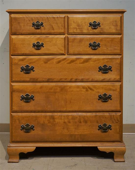 Maple Chest of Drawers and a Double Bedstead