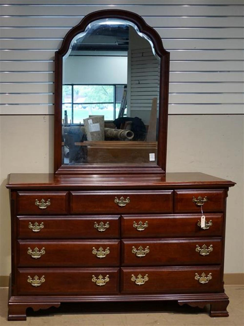 Chippendale Style Cherry Queen Bed, Dresser with Mirror and a Chest of Drawers by Pennsylvania House