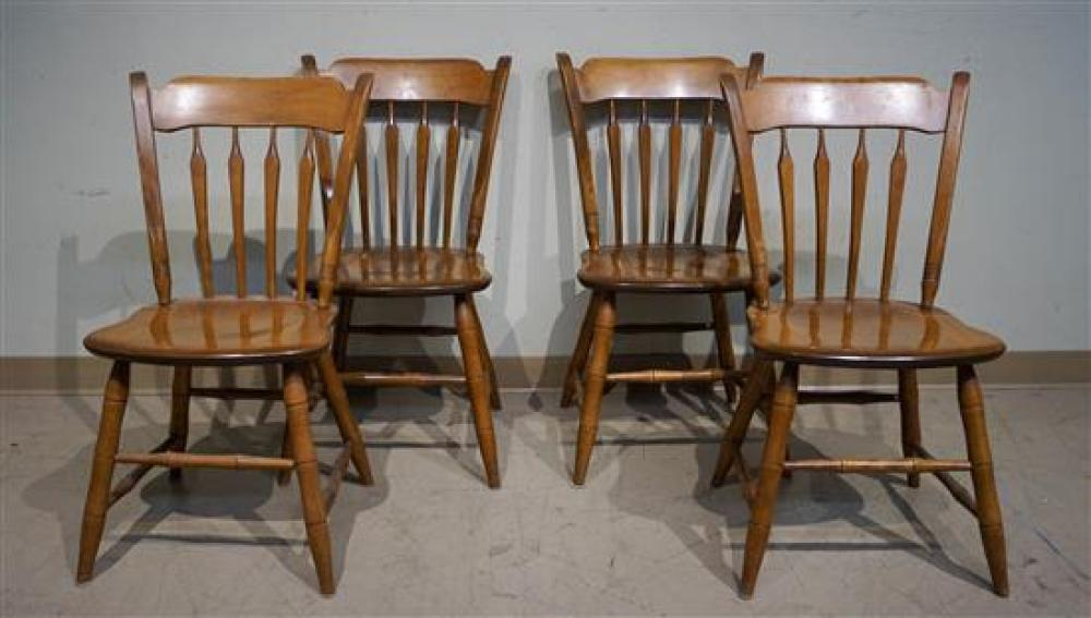 Ethan Allen Maple Drop-Leaf Table and Four Chairs