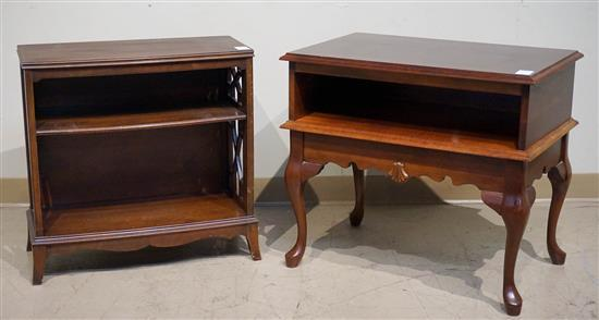 Queen Anne Style Cherry Side Table and a Federal Style Mahogany Side Table