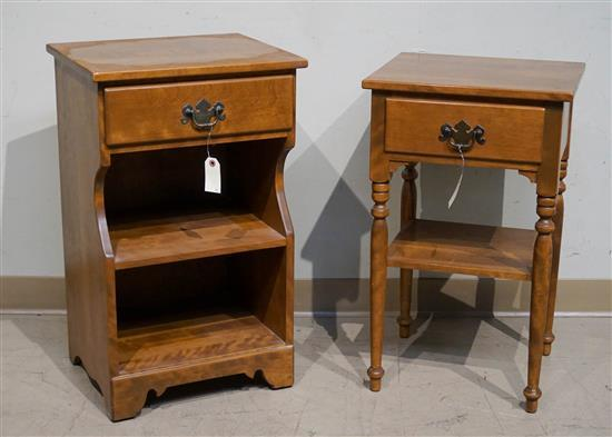 Two Maple Side Tables