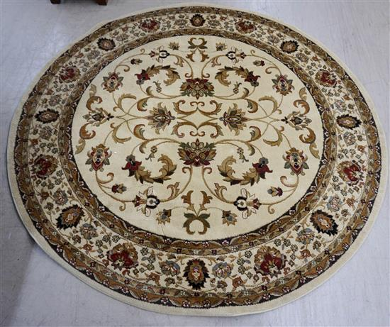 Modern Machine Made Round Rug, Diameter: 7 ft 10 in and a Scatter Rug by Carmel
