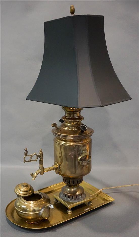 Brass Samovar mounted as a Lamp