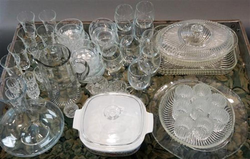Group of Assorted Glass Stemware, Bowls, Saucers and Casseroles