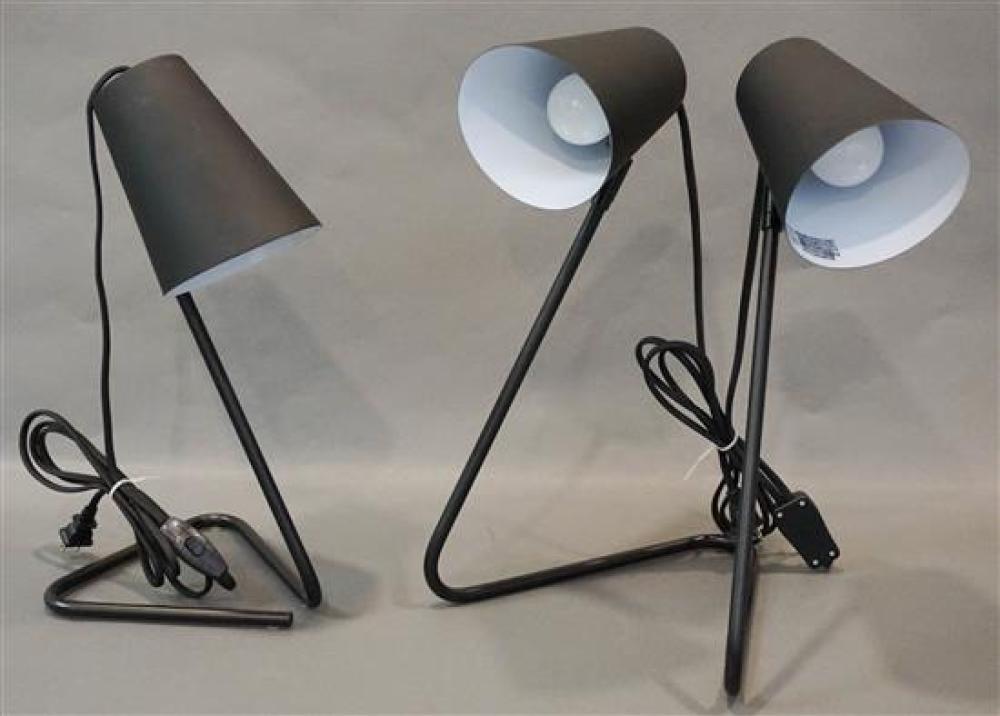 Black Metal Single Lamp and a Double Lamp