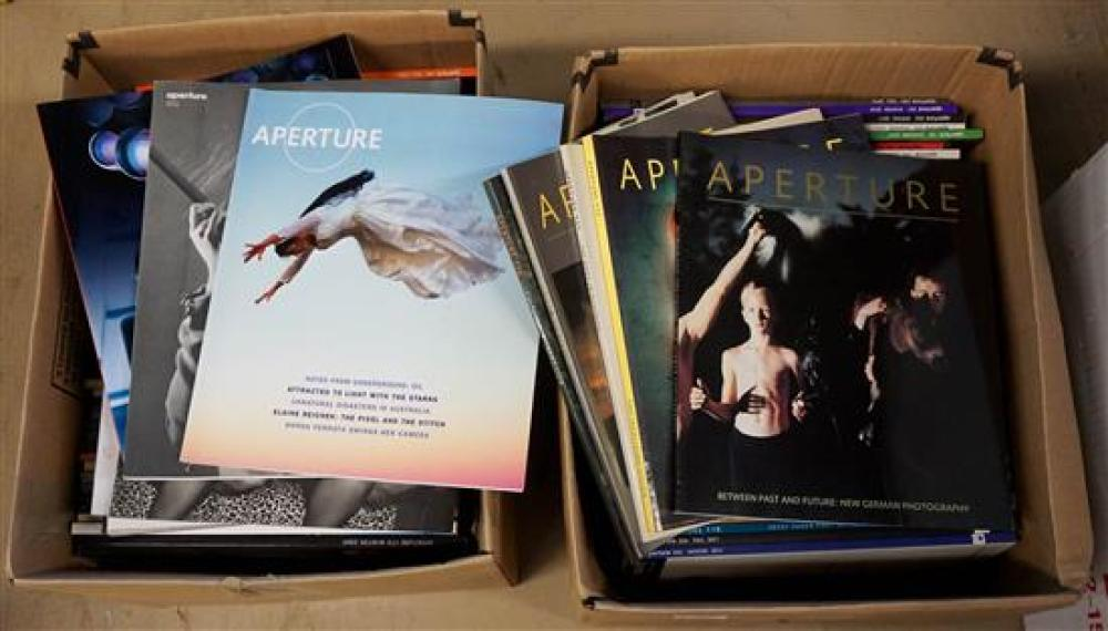 Two Boxes of 'Aperture' Photography Magazines, Circa 2010