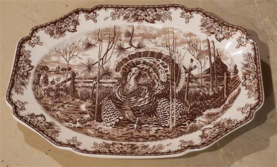 Wedgwood Ceramic Transfer Printed Turkey Platter