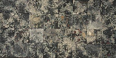 Michelle Stuart (American b. 1940), Moonlight (Manhattan), mixed media on paper mounted on board, 40 x 73 in