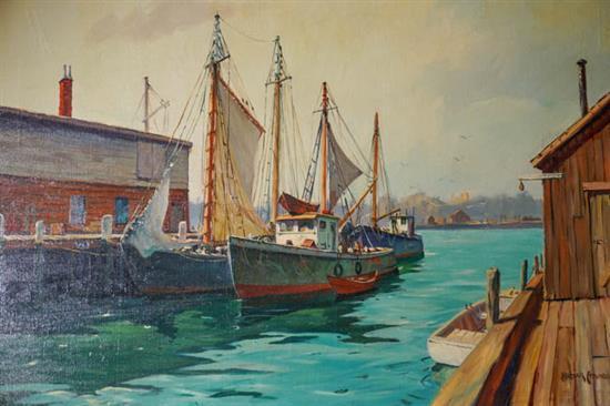 C. Hjalmar 'Cappy' Amundsen (American 1911-2001), Docked Boats