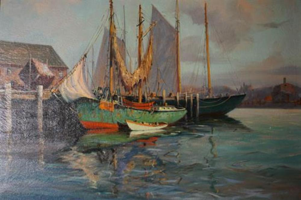J.J. Enwright (C. Hjalmar 'Cappy' Amundsen) (American 1911-2001), Safe in Port