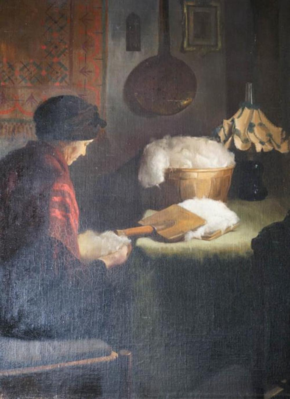Manuel García Montoya (Spanish 1938-2009), Carding Wool
