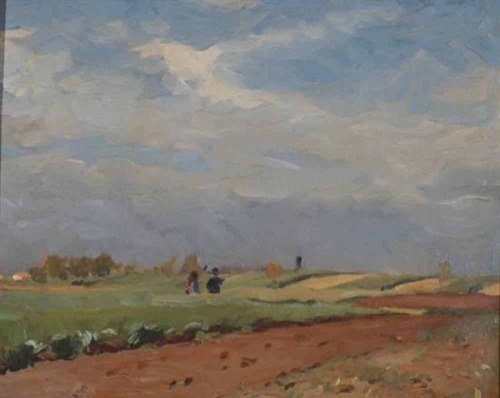 Sándor Nyilasy (Hungarian 1873-1934), Figures in Field