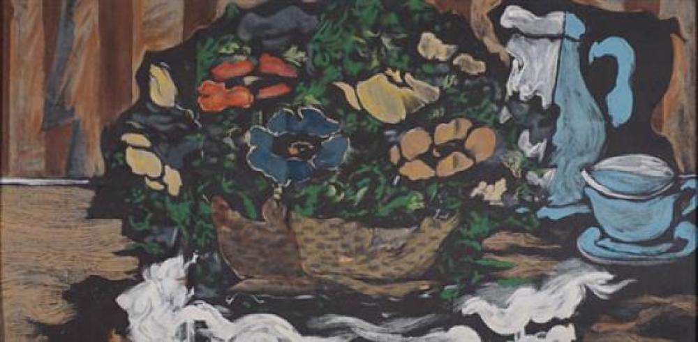After Georges Braque (French 1882-1963), Still Life with Basket and Cup