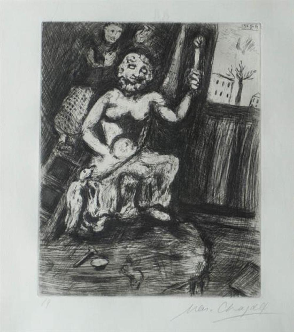 Marc Chagall (Russian-French 1887-1985), Le Statuaire et La Statue De Jupiter